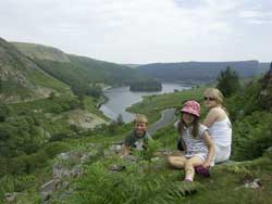 Relaxing in sight of The Elan Valley